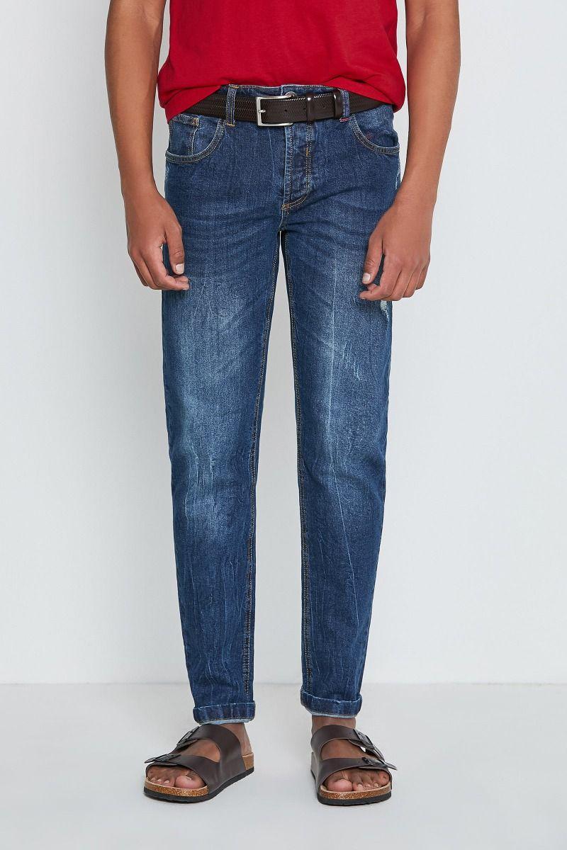 Jeans 5 tasche blu scuro