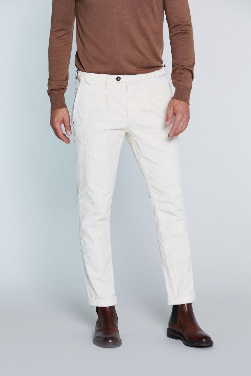 Pantalone tasca America in Velluto con Pences