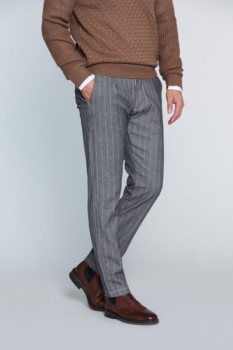 Pantalone tasca America con riga