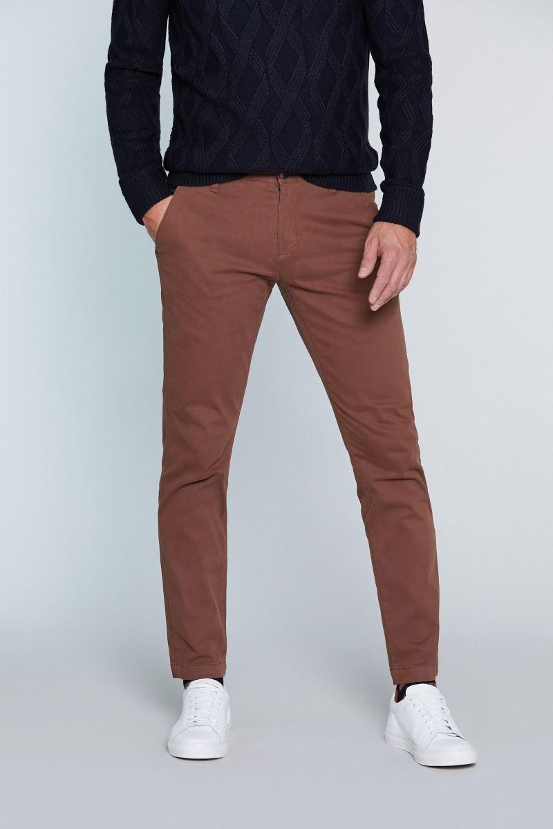 Pantalone tasca america in caldo cotone tinta unita