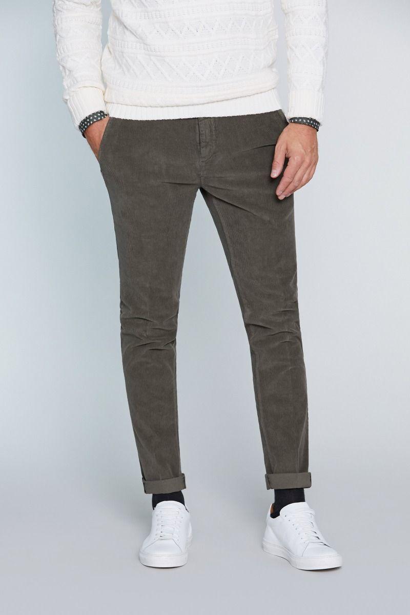 Pantalone in caldo cotone con stampa velluto