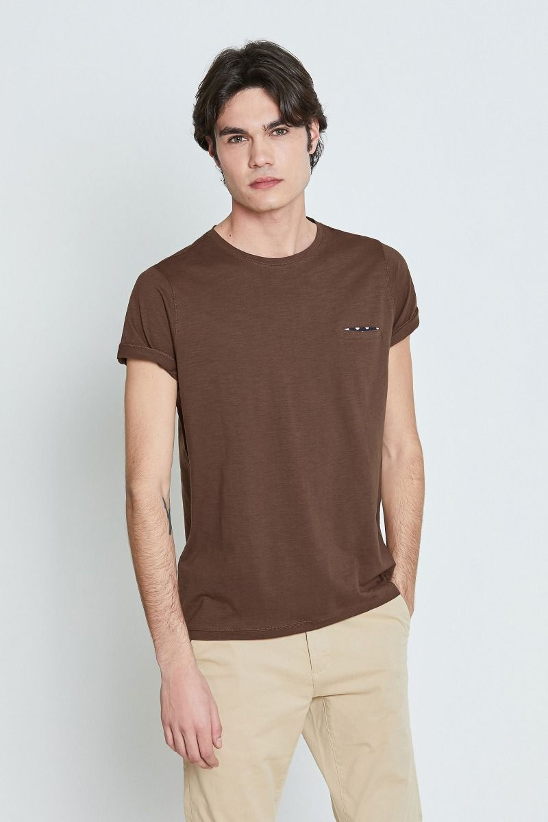T-shirt fiammata taschino pois