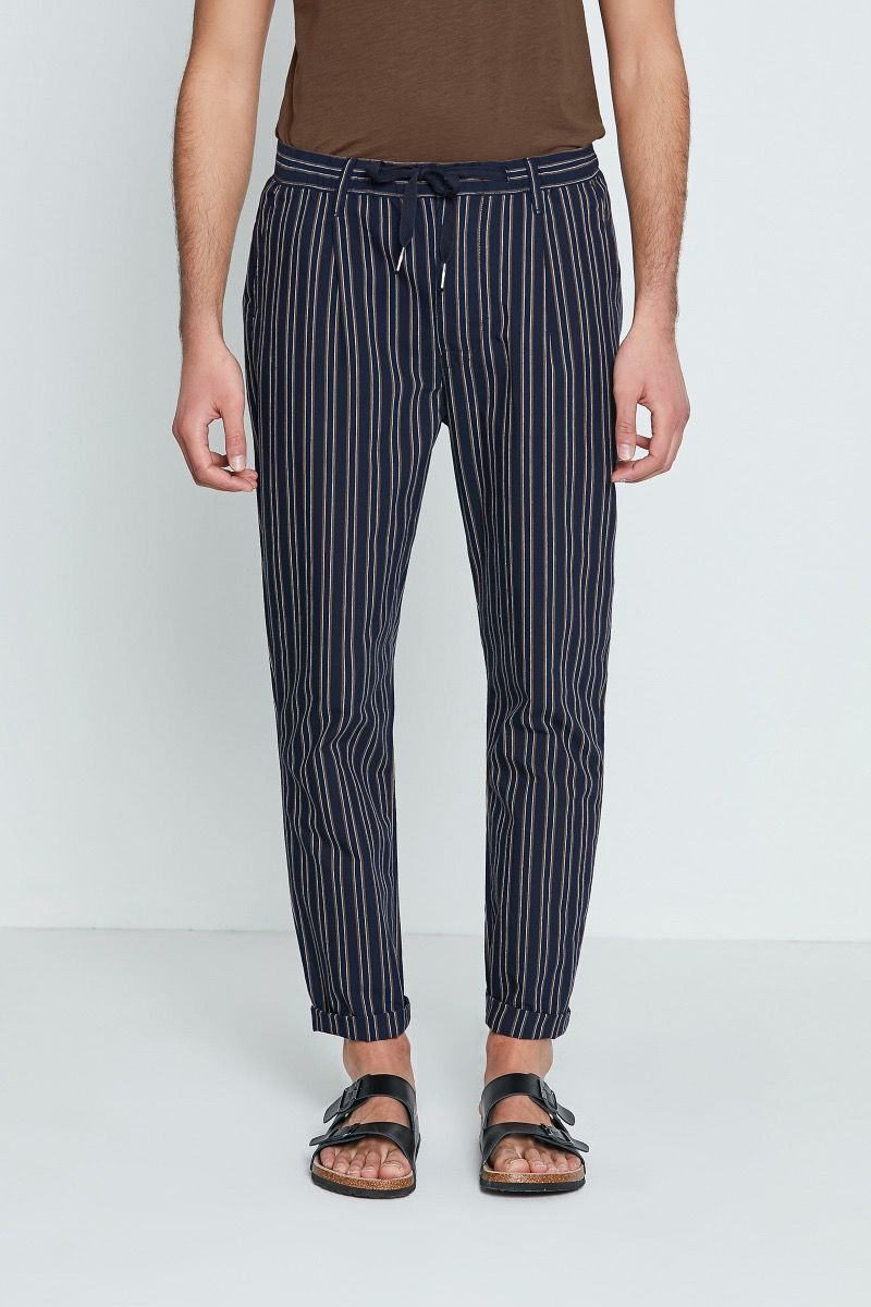 Pantalone righe con coulisse