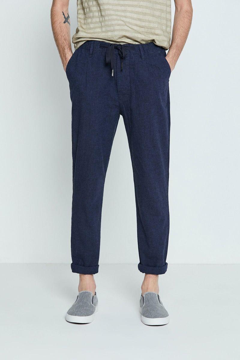 Pantalone lino cotone con coulisse