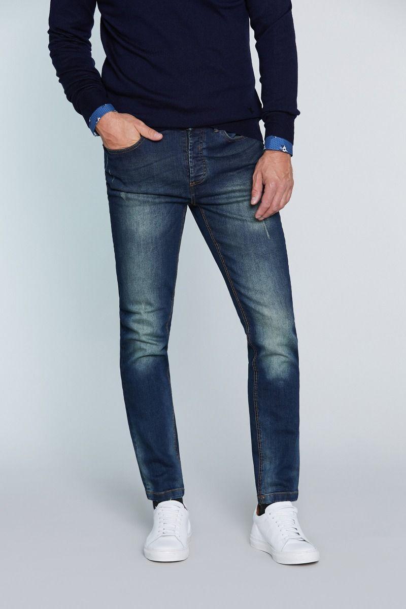 Jeans 5 tasche con leggere abrasioni