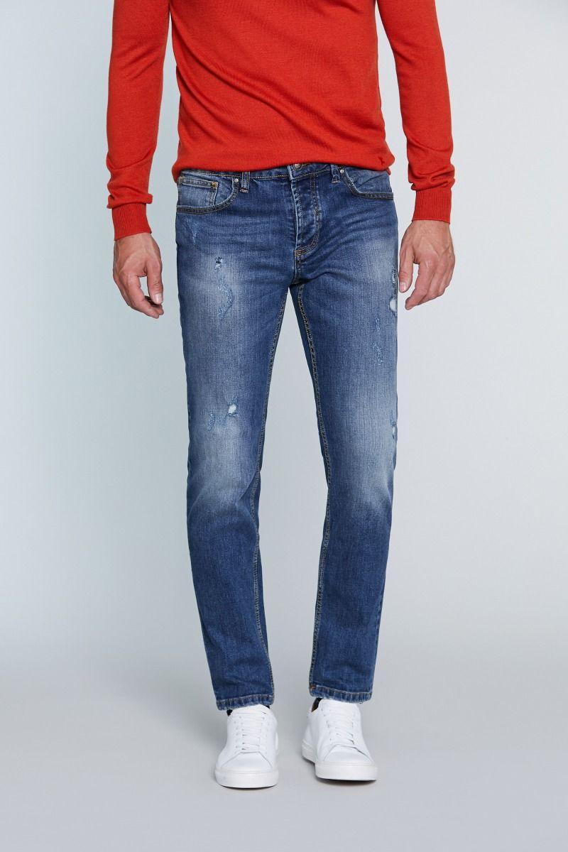 Jeans 5 tasche con strappo