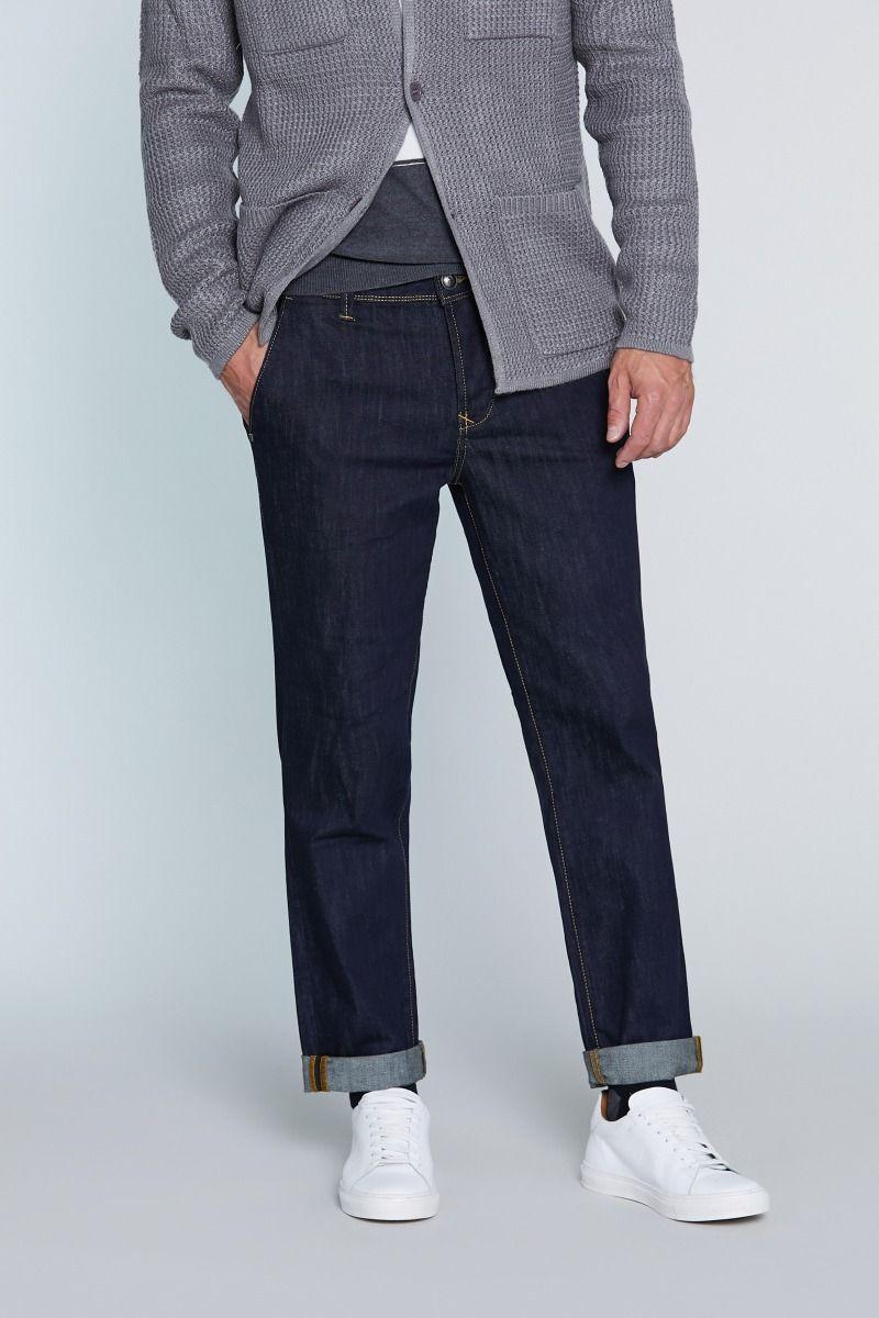 Jeans tasca america blu scuro