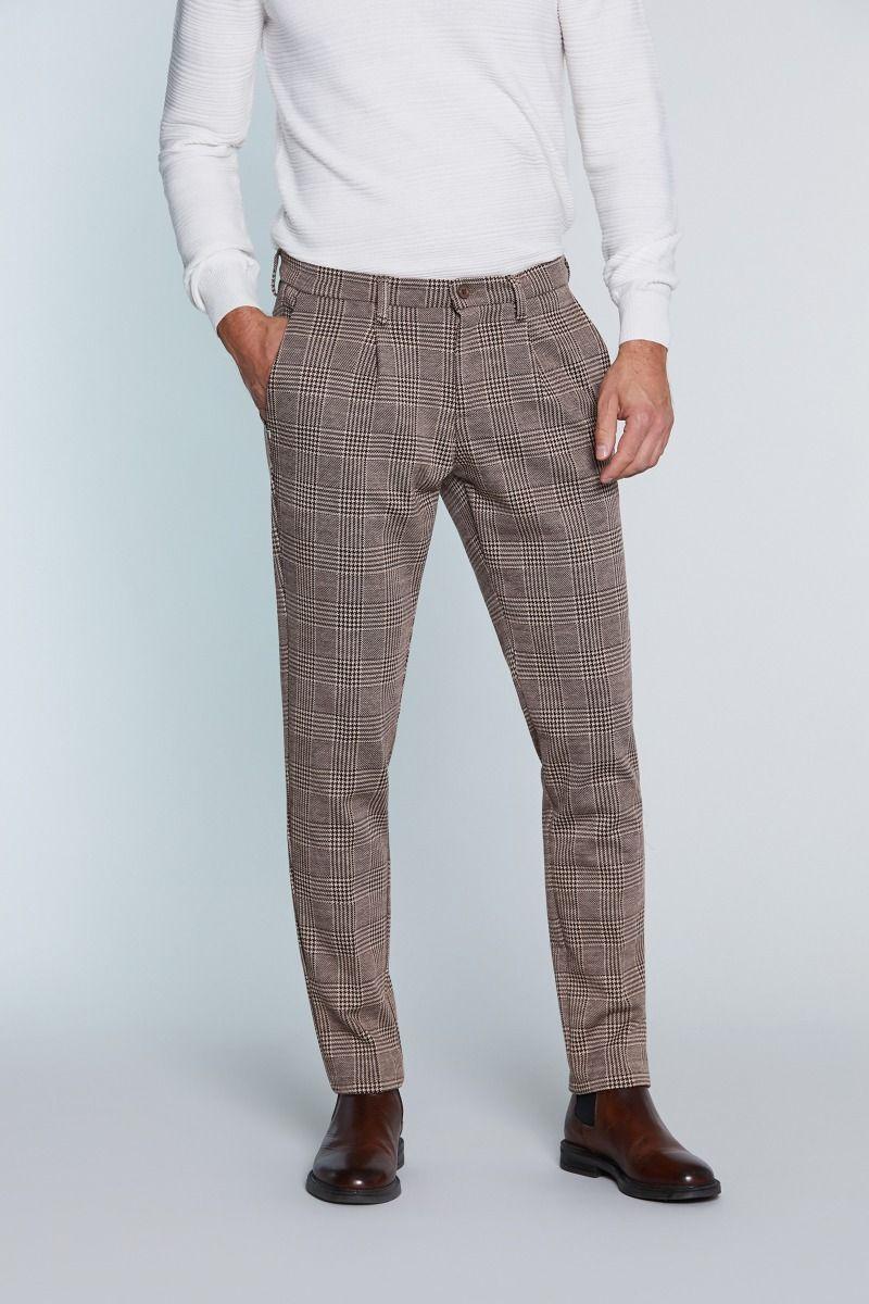 Pantalone classico fantasia principe di galles