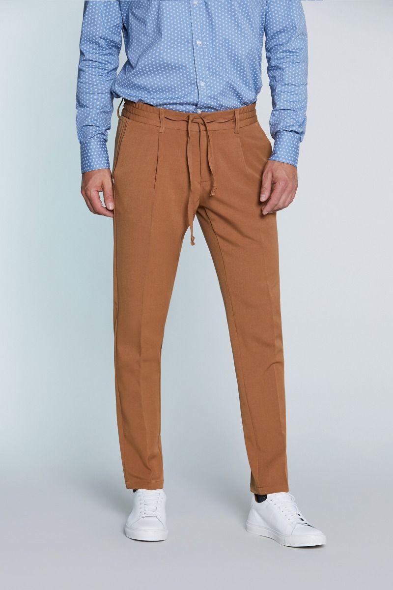 Pantalone leasure fit con coulisse