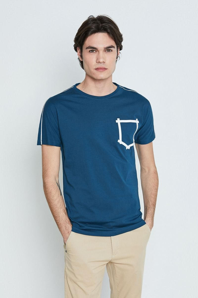 T-shirt finto taschino