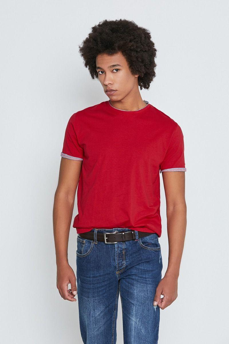T-Shirt bordi a contrasto righe